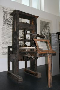 Printing press from 1811, exhibited in Munich, Germany
