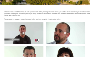 University's online training