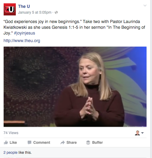 University United Methodist Church in San Antonio shares 2 minute excerpts​ from Sunday sermons