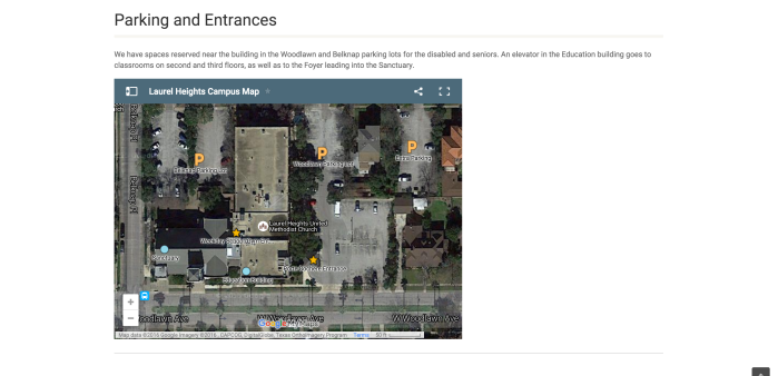 Parking and Entrances