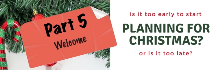 Planning for Christmas - Part 5- Banner