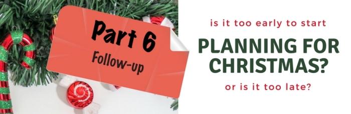 Planning for Christmas - Pt. 6 - Banner